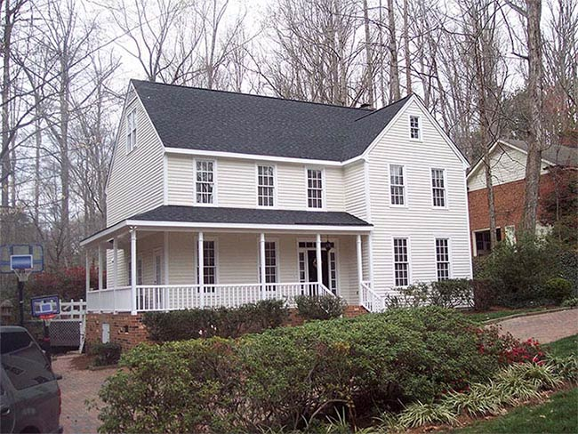 finished house exterior painting Raleigh