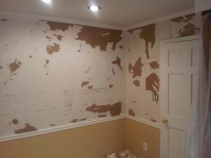 an example of what happens if you don't hire a professional for wallpaper removal