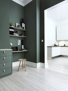 dark green interior paint
