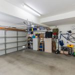 Inside of garage with sports equipment and tools